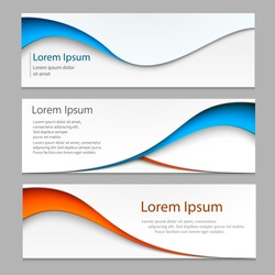 Vector abstract design banner . A set of banner web templates.