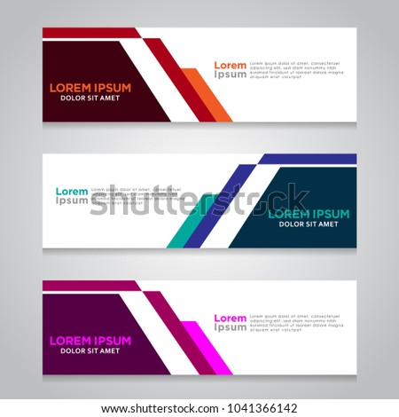 Vector abstract design banner template. #1041366142