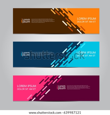 Vector abstract design banner template. #639987121