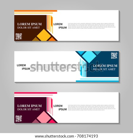 Vector abstract design banner template. #708174193