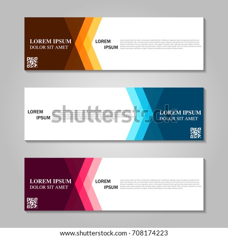 Vector abstract design banner template. #708174223