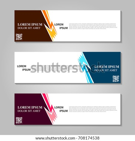 Vector abstract design banner template. #708174538