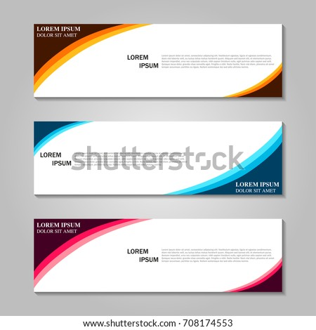 Vector abstract design banner template.