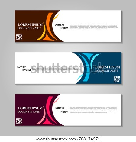 Vector abstract design banner template. #708174571