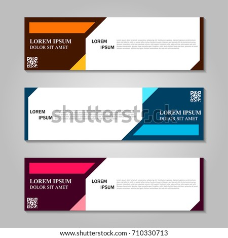 Vector abstract design banner template. #710330713