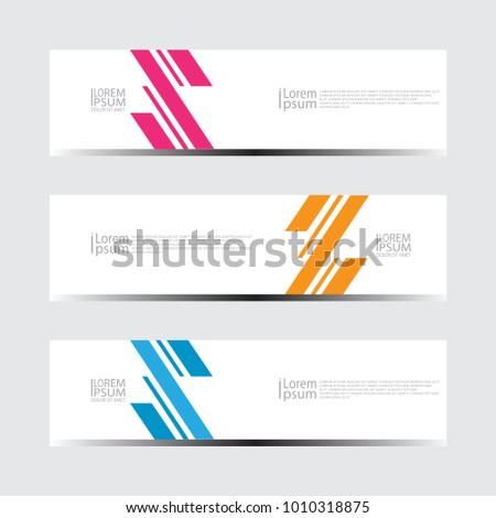 Vector abstract design banner web template #1010318875
