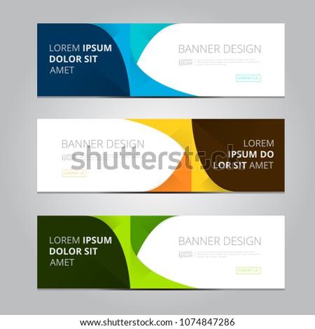 Vector abstract design banner web template. #1074847286