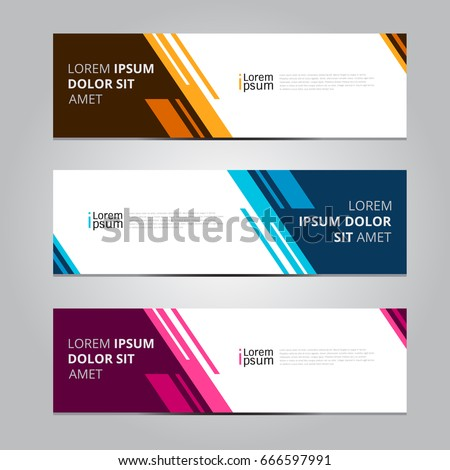Vector abstract design banner web template. #666597991