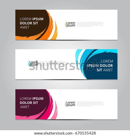 Vector abstract design banner web template. #670535428