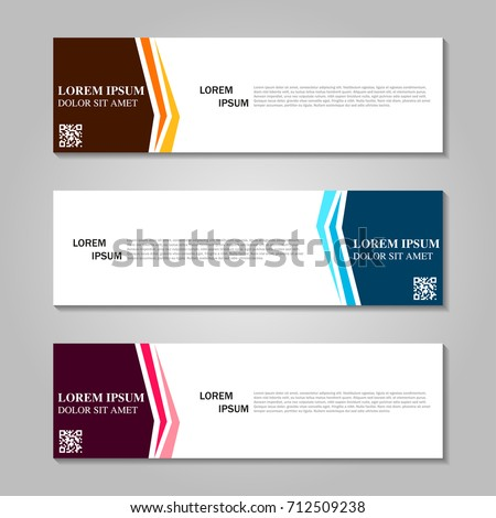 Vector abstract design banner web template. #712509238