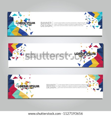 Vector abstract design web banner. collection of web banner design  #1127193656