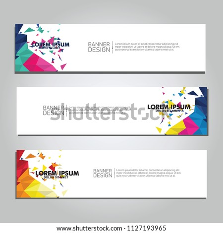 Vector abstract design web banner. collection of web banner design  #1127193965