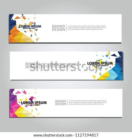 Vector abstract design web banner. collection of web banner design  #1127194817