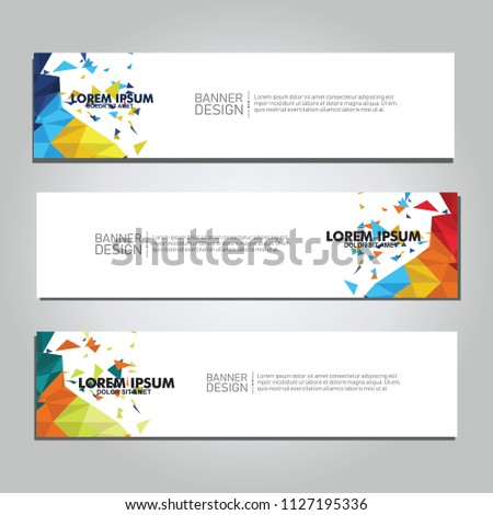 Vector abstract design web banner. collection of web banner design  #1127195336