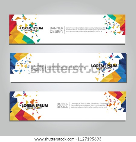 Vector abstract design web banner. collection of web banner design  #1127195693