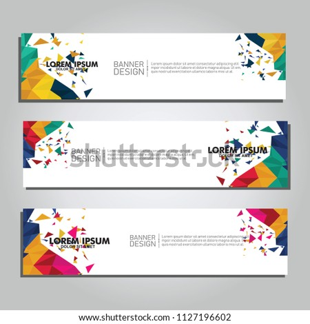 Vector abstract design web banner. collection of web banner design  #1127196602