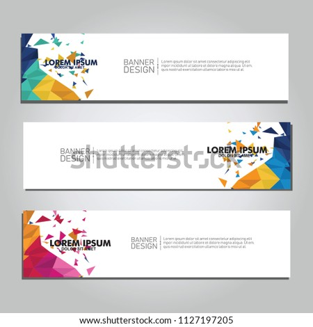 Vector abstract design web banner. collection of web banner design  #1127197205