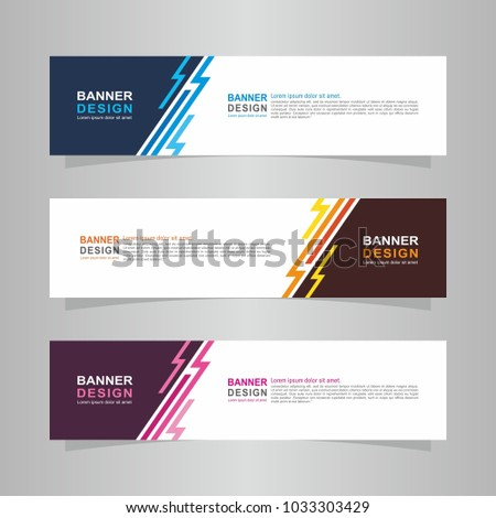 Vector abstract design web banner template. Web Design Elements - Header Design. Abstract geometric web banner template on grey background. collection of web banner design template. #1033303429