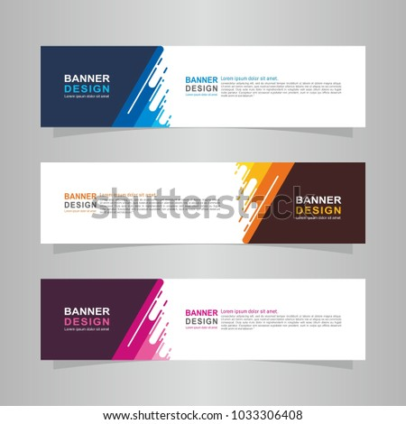 Vector abstract design web banner template. Web Design Elements - Header Design. Abstract geometric web banner template on grey background. collection of web banner design template. #1033306408