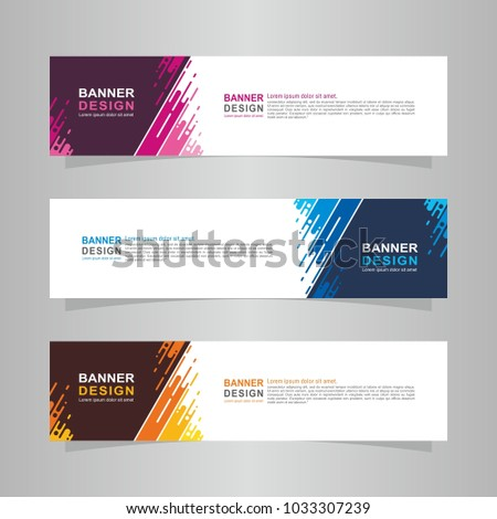 Vector abstract design web banner template. Web Design Elements - Header Design. Abstract geometric web banner template on grey background. collection of web banner design template. #1033307239