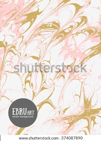 vector abstract ebru background