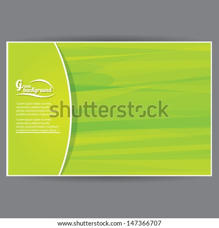 vector abstract eco green background template