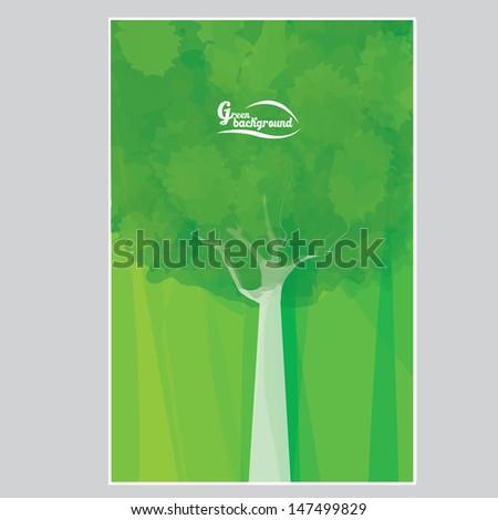 vector abstract eco green