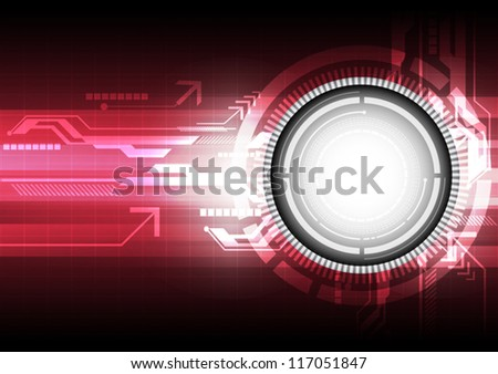 vector abstract electric digital technology background