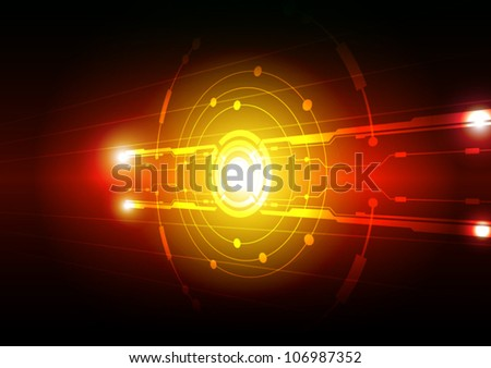 vector abstract electric technology background
