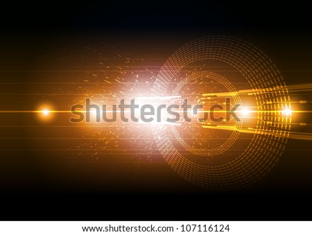 vector abstract electric technology background design