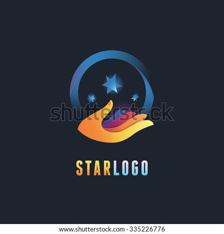 vector abstract emblem and logo