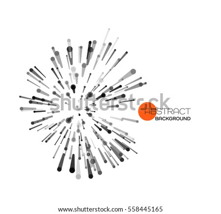 vector abstract explosion lines