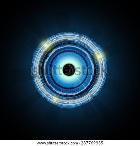 vector abstract eye technology