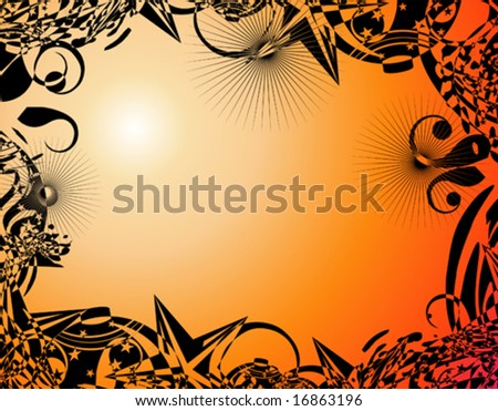 stock vector VECTOR abstract fantasy tribal flower frames