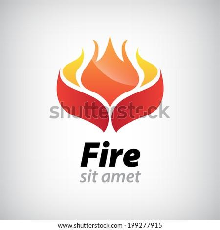 vector abstract fire icon  logo