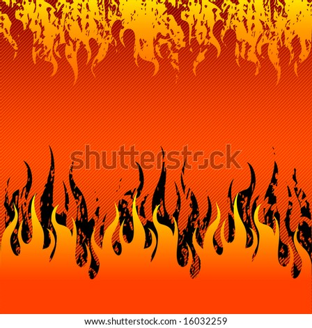 Vector abstract fire red background with hot flames.