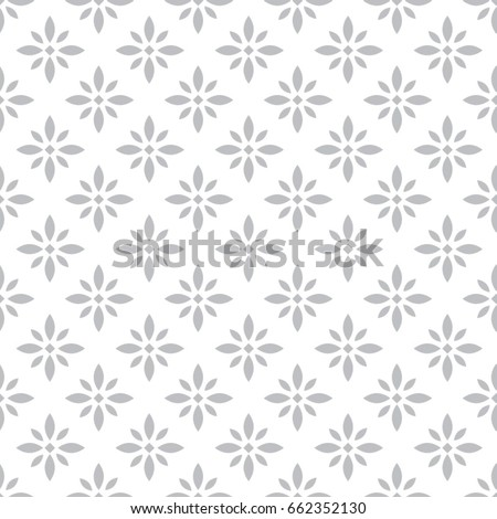 Vector abstract floral pattern. Geometric background