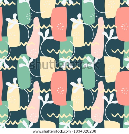 vector abstract floral seamless
