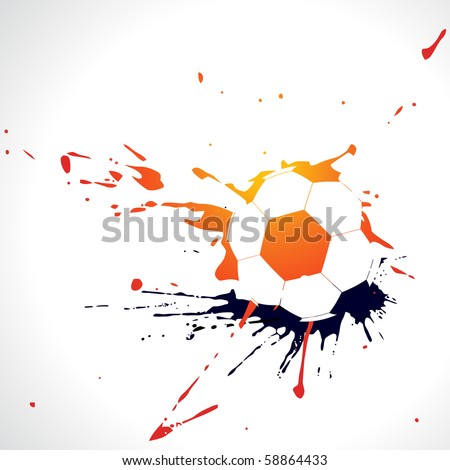 vector abstract football design illustration
