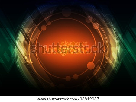 vector abstract future design circle background