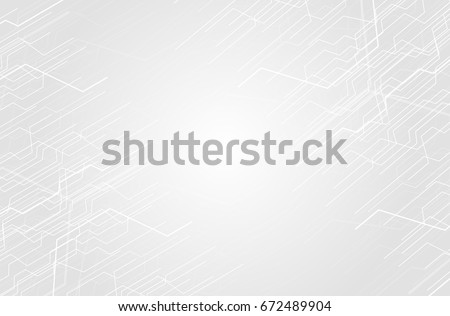 Vector Abstract futuristic circuit board. computer technology white color background , technology concept. Vector illustration