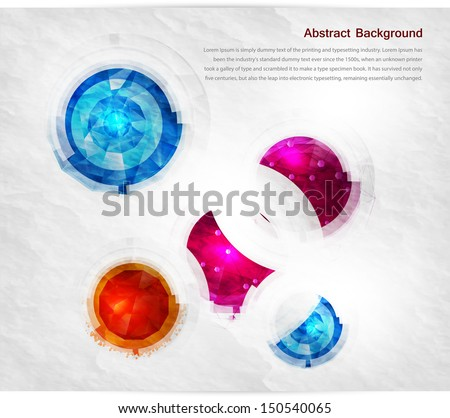 vector abstract gem and blue