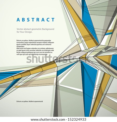Vector abstract geometric background, contemporary style illustration.