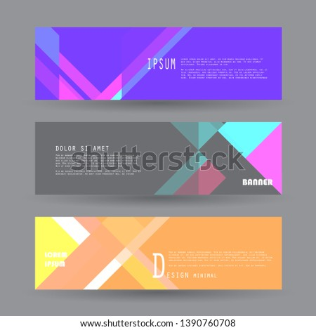 Vector abstract geometric banner background #1390760708
