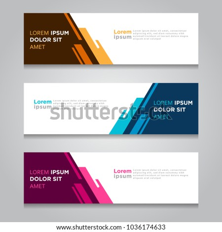 Vector abstract geometric design banner web template.