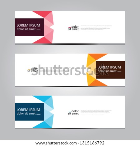 Vector abstract geometric design banner web template. #1315166792