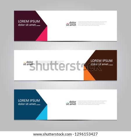 Vector abstract geometric design banner web template. Banner background.modern template design #1296153427
