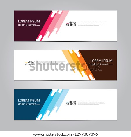 Vector abstract geometric design banner web template. Banner background.modern template design #1297307896