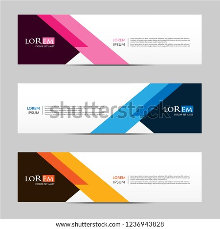 Vector abstract geometric design banner web template. vector illustration #1236943828