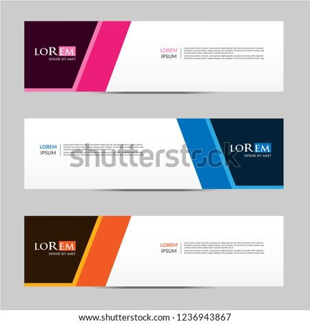 Vector abstract geometric design banner web template. vector illustration #1236943867